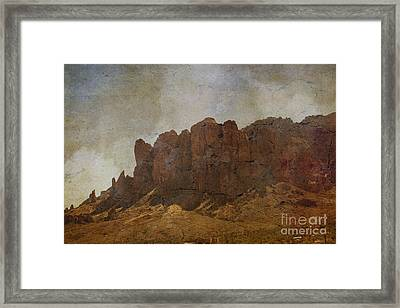 Superstition Mountains Framed Print by Beverly Guilliams