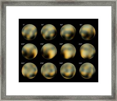 Surface Of Pluto Framed Print