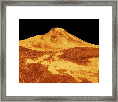 Surface Of Venus Framed Print by Nasa/jpl