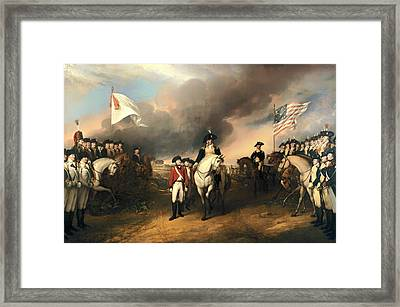 Surrender Of Lord Cornwallis Framed Print by Mountain Dreams