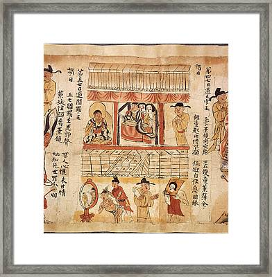 Sutra Of The Ten Kings Framed Print by British Library
