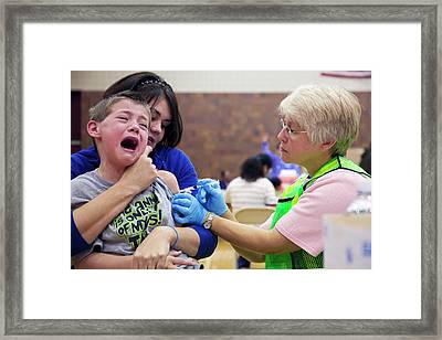 Swine Flu (h1n1) Vaccination Framed Print
