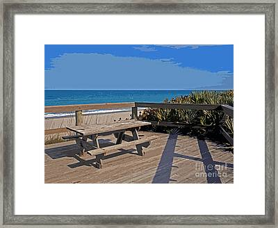 Table For You  Framed Print by Allan  Hughes