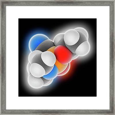 Tabun Nerve Agent Molecule Framed Print