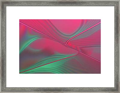 Tannic Acid Crystals Framed Print by Marek Mis