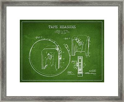 Tape Measure Patent Drawing From 1906 Framed Print