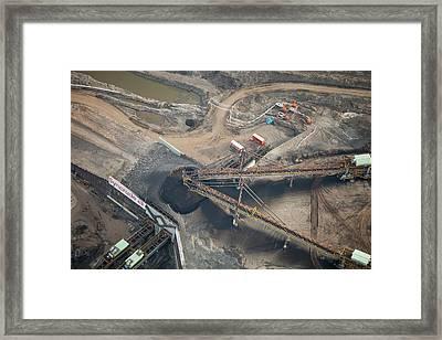 Tar Sands Deposits Being Mined Framed Print