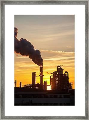 Tar Sands Upgrader Plant Syncrude Mine Framed Print by Ashley Cooper