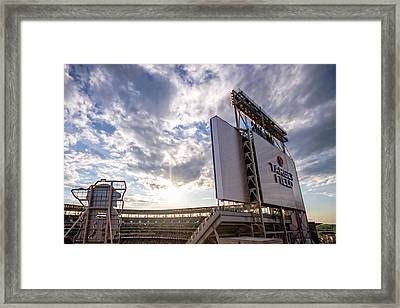 Target Field Sunset Framed Print