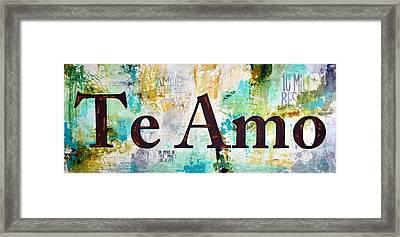 Te Amo Framed Print by Ivan Guaderrama