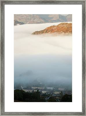 Temperature Inversion Over Ambleside Framed Print