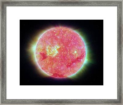 Temperature Of The Sun Framed Print by Nasa/jpl-caltech/nrl/gsfc