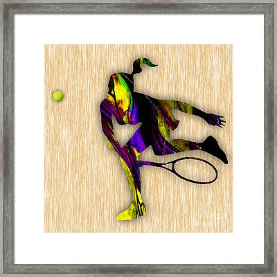 Tennis Match Framed Print by Marvin Blaine