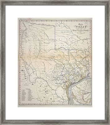 Texas Framed Print by British Library