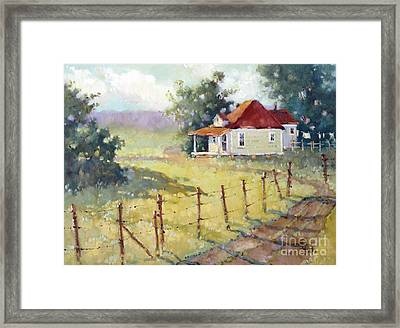 Texas Plain And Simple Framed Print