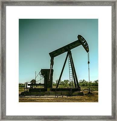 Texas Pumpjack  Framed Print