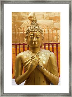 Thailand, Chiang Mai Province, Wat Phra Framed Print by Emily Wilson