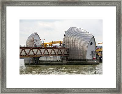 Thames Barrier Framed Print by Ashley Cooper