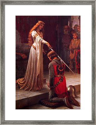 The Accolade Framed Print by Edmund Blair Leighton