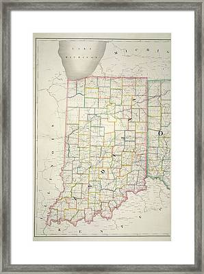 The American Atlas Framed Print