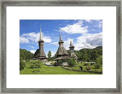 The Barsana Monastery Romania Framed Print