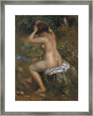 The Bathers Framed Print by Pierre-Auguste Renoir