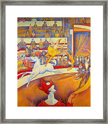 The Circus Framed Print by Georges Seurat