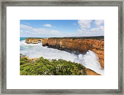 The Coastline Near Loch Ard Gorge Framed Print by Martin Zwick