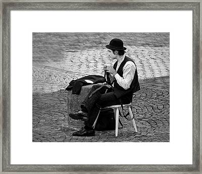 3 - The Cravat - Cravate - French Mime Framed Print by Nikolyn McDonald