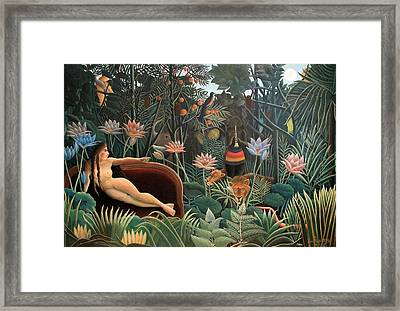 The Dream Framed Print by Henri Rousseau