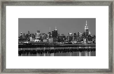 The Empire State Building Pastels Framed Print by Susan Candelario