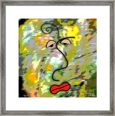 The Face Framed Print by Marvin Blaine