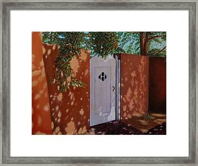 The Garden Gate Framed Print by Gene Gregory