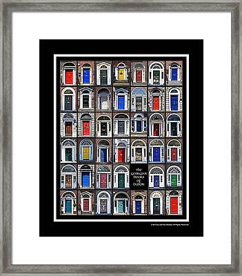 The Georgian Doors Of Dublin Framed Print