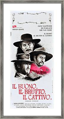 The Good, The Bad, And The Ugly Aka Il Framed Print by Everett