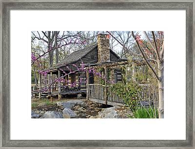 The Historic Gosnell Log Cabin  Mauldin Sc Framed Print
