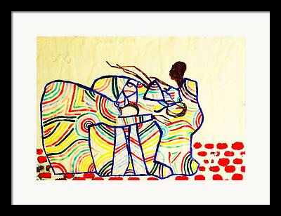 Ugandan Ceramicist Framed Prints
