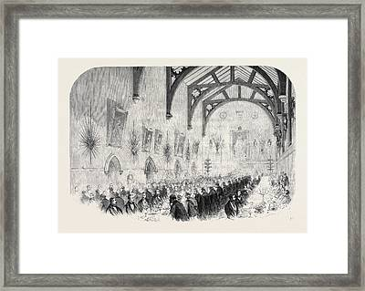 The Installation Of Lord Palmerston As Lord Warden Framed Print
