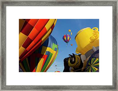 The Mass Ascension At The Albuquerque Framed Print by Maresa Pryor