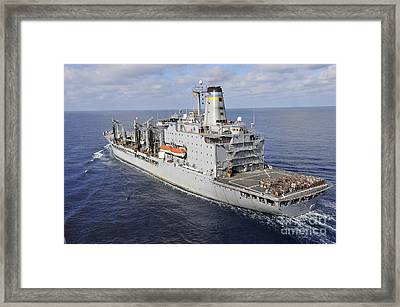 The Military Sealift Command Fleet Framed Print