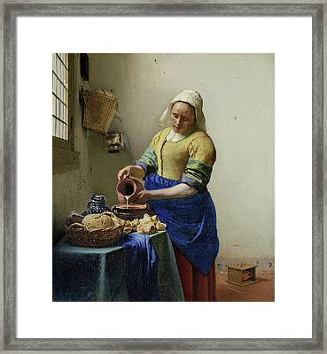 The Milkmaid  Framed Print by Celestial Images