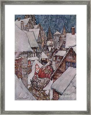 'the Night Before Christmas Framed Print by Arthur Rackham