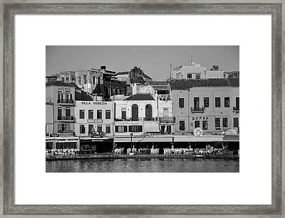The Old Port Of Chania City Framed Print by George Atsametakis