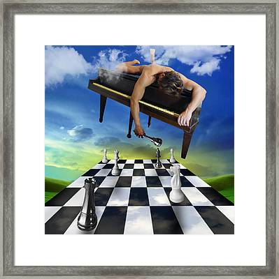 The Piano Framed Print by Mark Ashkenazi