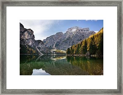 The Pragser Wildsee (lake Prags, Lago Framed Print