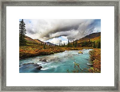 The Royal Blue Stream That Feeds The Ravine Framed Print by Kyle Lavey