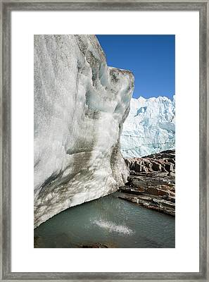 The Russell Glacier Framed Print
