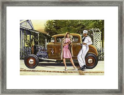 The Sailor's Girl Framed Print