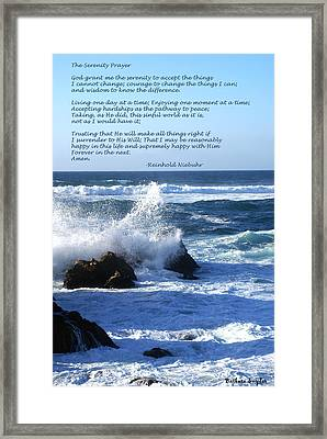 The Serenity Prayer Framed Print by Barbara Snyder