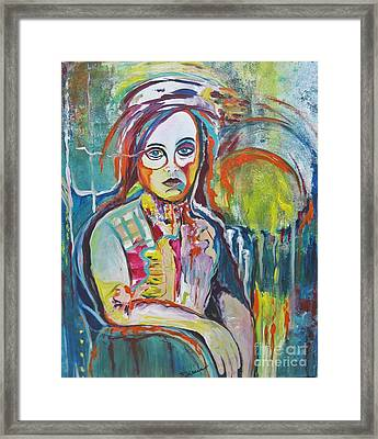 Framed Print featuring the painting The Show Must Go On by Diana Bursztein